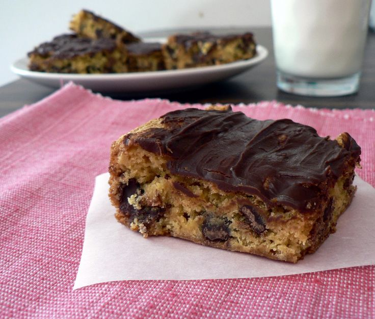 Bless This Mess: Cheater Chocolate Chip Cookie Bars