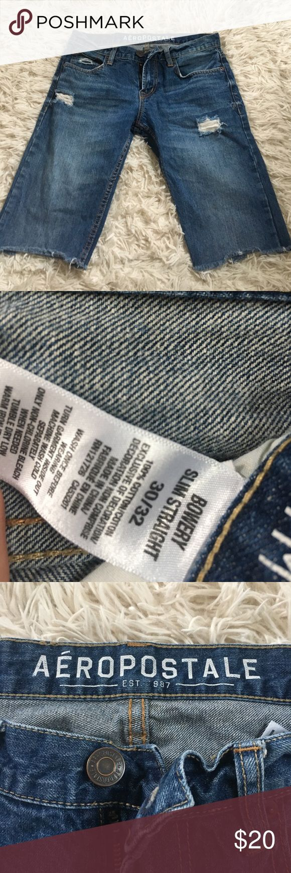 Men's Jean Cutoffs Great condition men's Jean cut offs! Aeropostale Shorts Jean Shorts