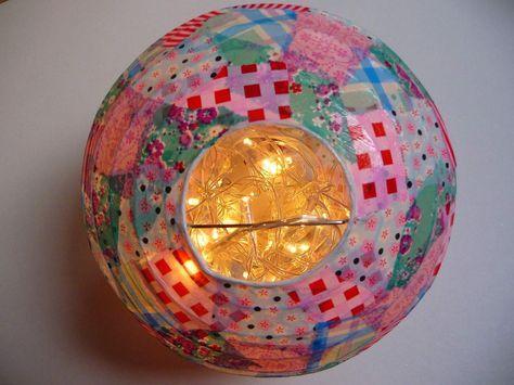 Les 25 meilleures id es de la cat gorie boules de papier sur pinterest d co - Plafonnier boule chinoise ...