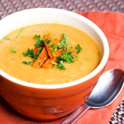 A delicious and healthy #vegan #parsnip and shiitake mushroom #soup