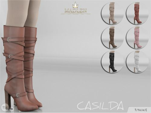 "madlensims: "" Madlen Casilda Boots You cannot change the mesh, but feel free to recolour it as long as you add original link in the description. If you can't see this creation in CAS, please update your game. If you're experiencing thumbnail problem,..."