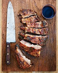 "Cumin-and-Coriander Grilled Lamb Ribs | Food and Wine. Recommended to serve with ""a robust Rhone."""