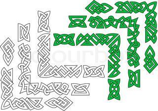 Grænser og mønstre i keltisk stil