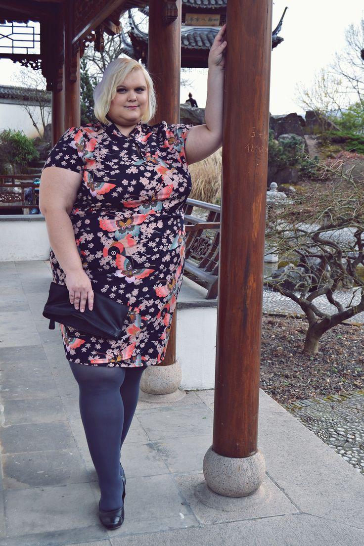 Plus Size Kimono Dress Anna Scholz for Sheego