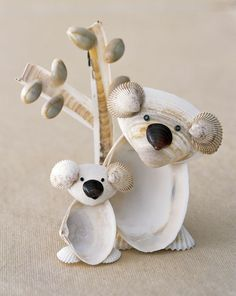 Figuren basteln mit Muscheln - Koalas Mehr