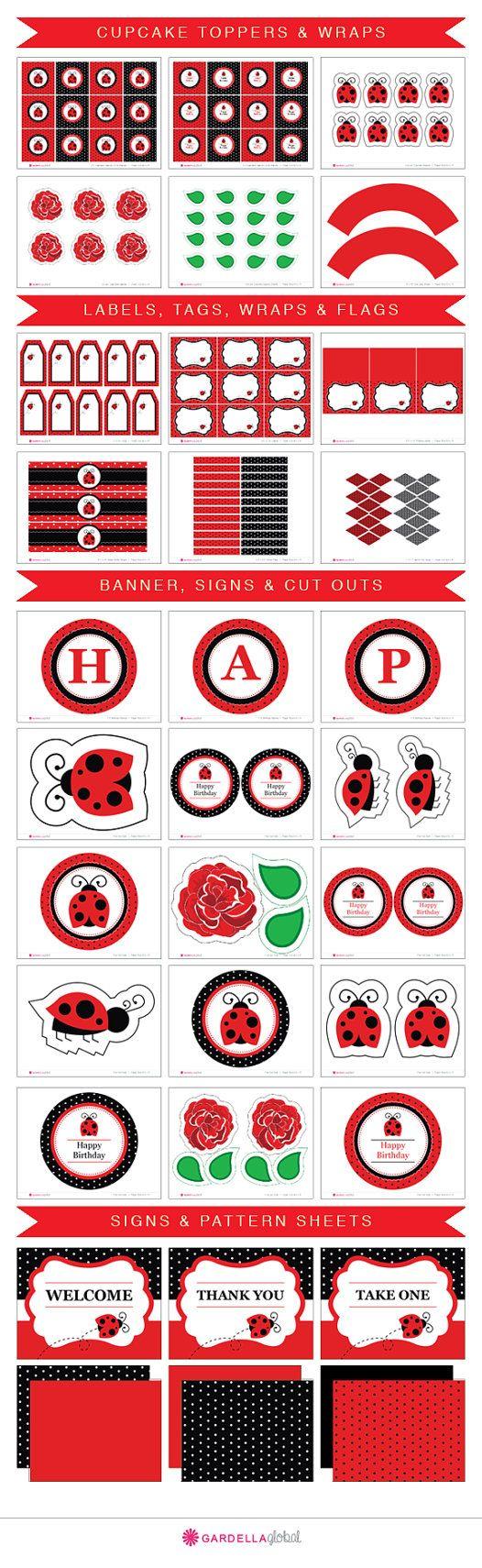 Ladybug Invitation Ladybug invite Ladybug por GardellaGlobal