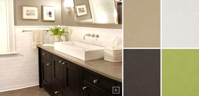 63 best images about small bathroom ideas on pinterest - Bathroom paint color combinations ...