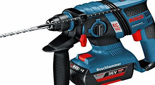 Bosch Professional Bosch GBH 36 V-LI Professional Cordless SDS Hammer Drill Can drill up to 160 holes in one charge (6 x 40 mm in C30/37 concrete)