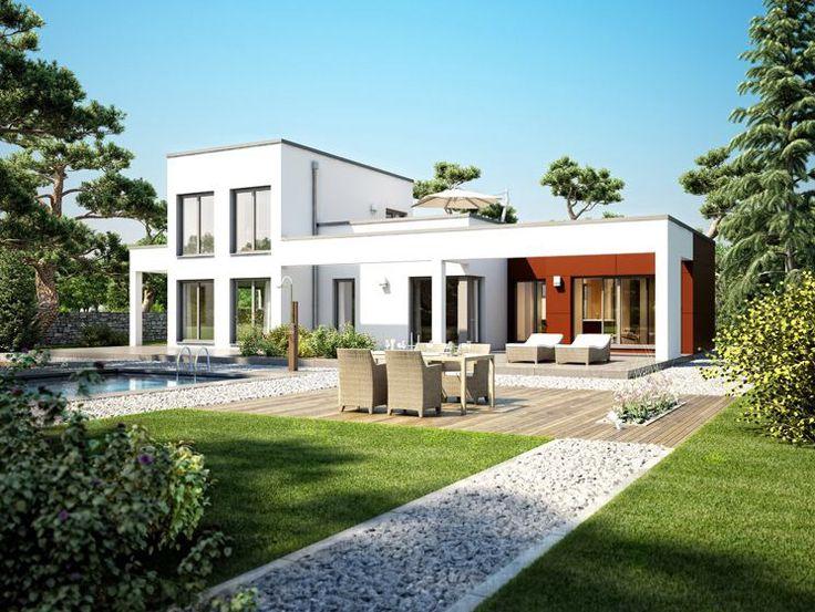 flachdach bungalow im bauhausstil mit galerie und dachterrasse einfamilienhaus architektur. Black Bedroom Furniture Sets. Home Design Ideas
