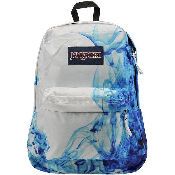 JanSport Superbreak Backpack Blue Bags No Size ($25) ❤ liked on Polyvore featuring bags, backpacks, blue, jansport, rucksack bags, day pack backpack, jansport rucksack and pocket backpack