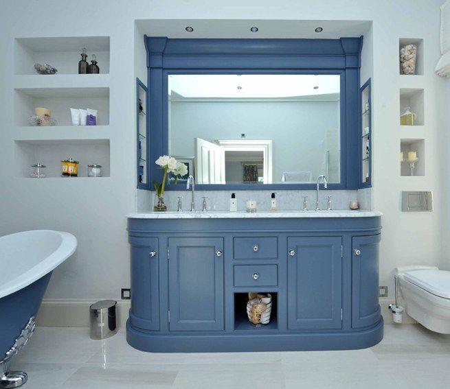 blue bathroom vanity with lots of storage hayburn portfolio bathroom inspiration pinterest bathroom vanities vanities and storage