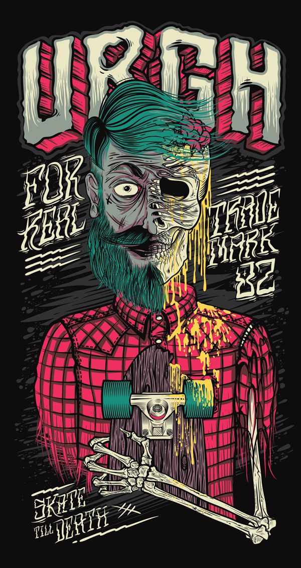 Skate Till Death Urgh by Thiago Pacheco, via Behance