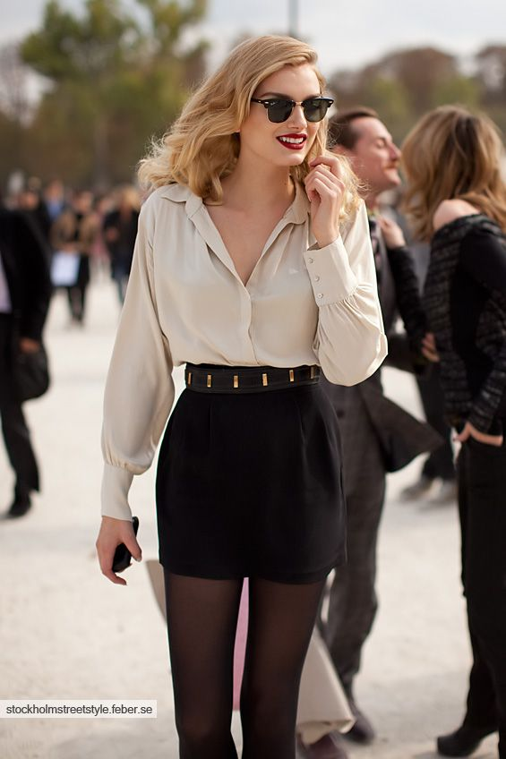 classic beauty. I really love the blouse! The skirt is great but could be a little longer
