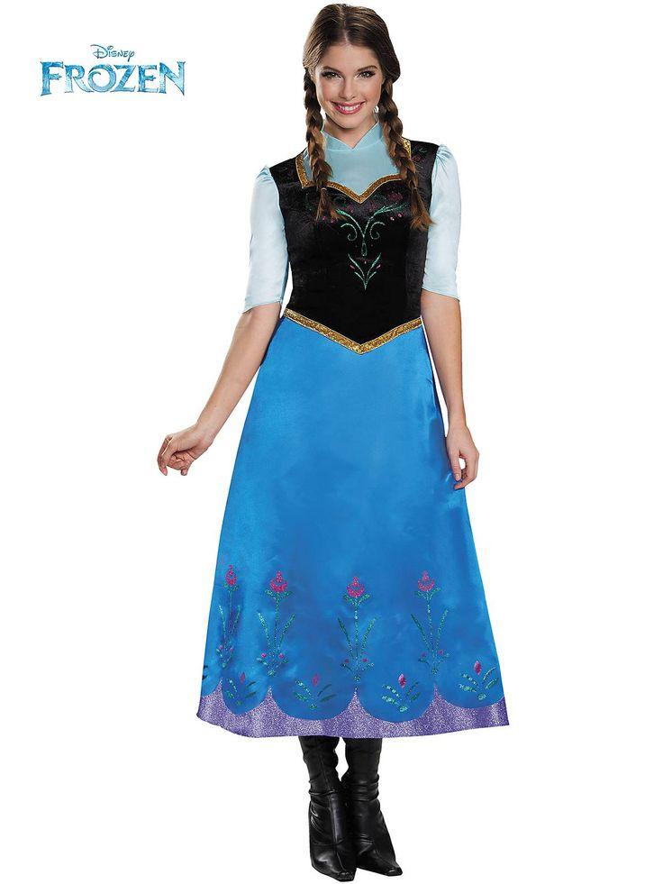 disneys frozen anna traveling deluxe womens costume - Halloween Anna Costume