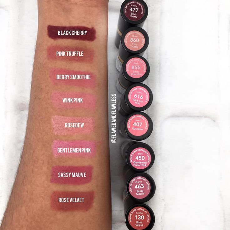 Revlon Super Lustrous Lipstick Swatches On Medium Skin -5662