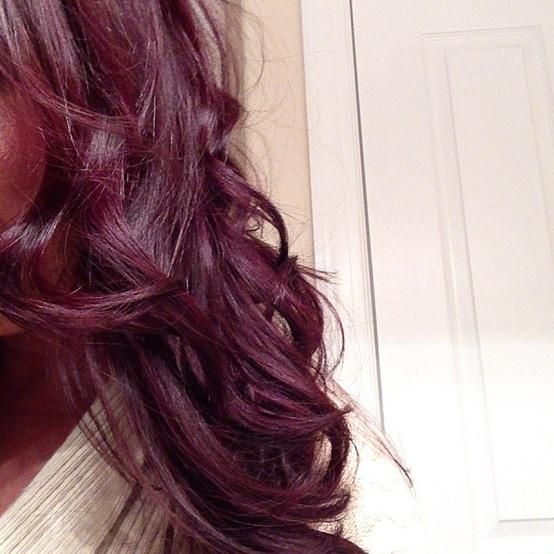 burgundy plum hair...hmmm maybe I will go back to this color til summertime