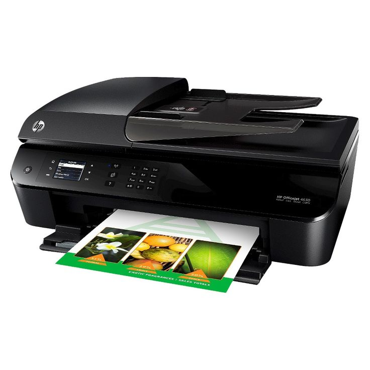 HP Officejet 4630 e-All-in-One Color Multifunction Inkjet Printer - Black (B4L03A#B1H)