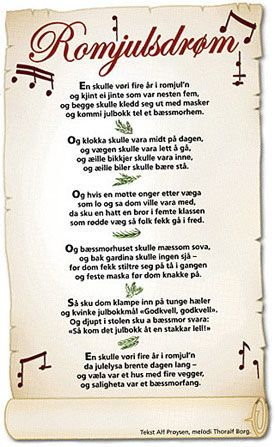 Music at Advent. Old Norwegian traditional. By Alf Prøysen