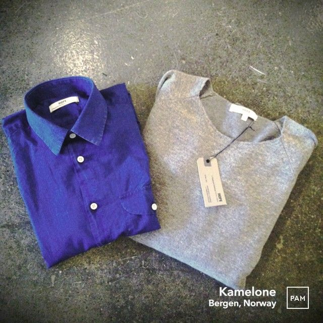 Hope News, skjorte og genser til mannen  #hopesthlm #scottshirthopesweater #indigo #wool #hybridshopping #bergen
