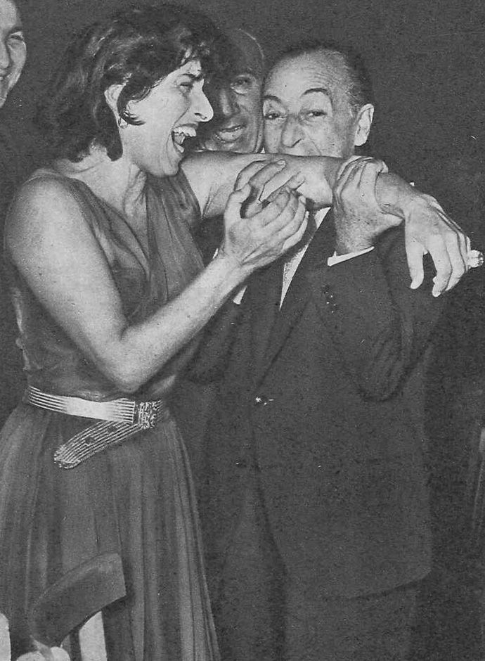 Anna Magnani and Totò, 1955