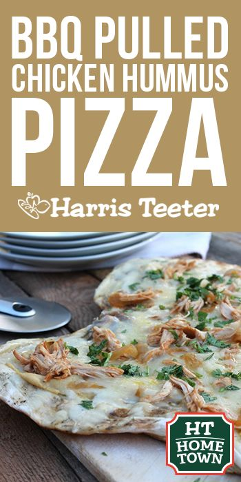 Try this BBQ Pulled Chicken Hummus Pizza from our HT Home Town partner, Sabra!