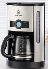 Features/Specifications Product code: 18592SS 1.8 litre, 12-cup filter coffee maker Safety auto-shut off feature Drip-stop value for serving whilst still brewing Digital LCD display with programmable timer Removable filter basket Glass carafe with flip top lid Water level indicator 1000 W