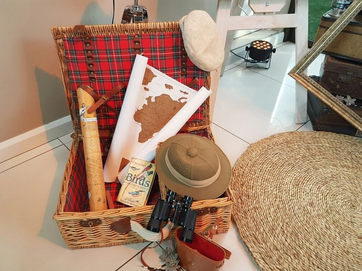 Safari,  Out of Africa...Party decor, africa , map, binoculars
