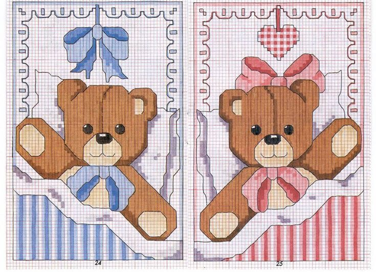 teddy bears blue and pink