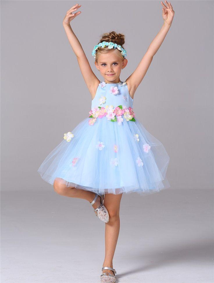2016 валериана лекарственная lenggth колена тюль цветочница платье с красивыми цветами линии рукавов дети вечернее платье