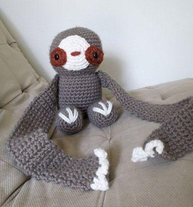 Crochet sloth scarft - free crochet pattern // Horgolt lajhár sál - ingyenes amigurumi minta // Mindy - craft tutorial collection // #crafts #DIY #craftTutorial #tutorial