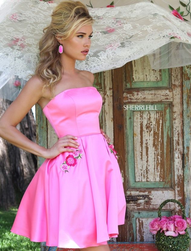 110 best Cherry/Fuchsia images on Pinterest | Party dresses, Prom ...