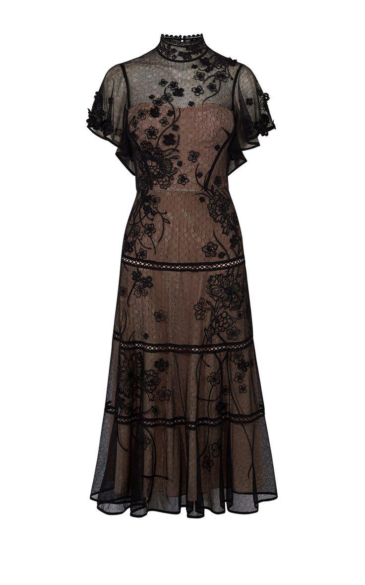 Платье с вышивкой Karen Millen. Цвет , купить за 17956р в официальном интернет магазине karenmillen.ru с доставкой по России