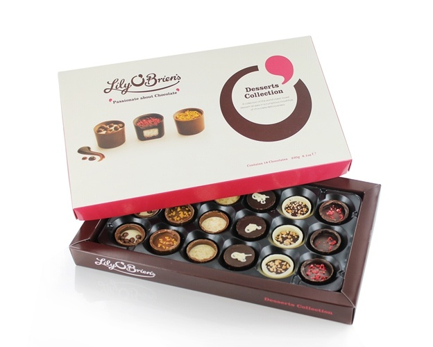 Chocolate Desserts Collection, 18 Chocolates available at LilyOBriens.ie