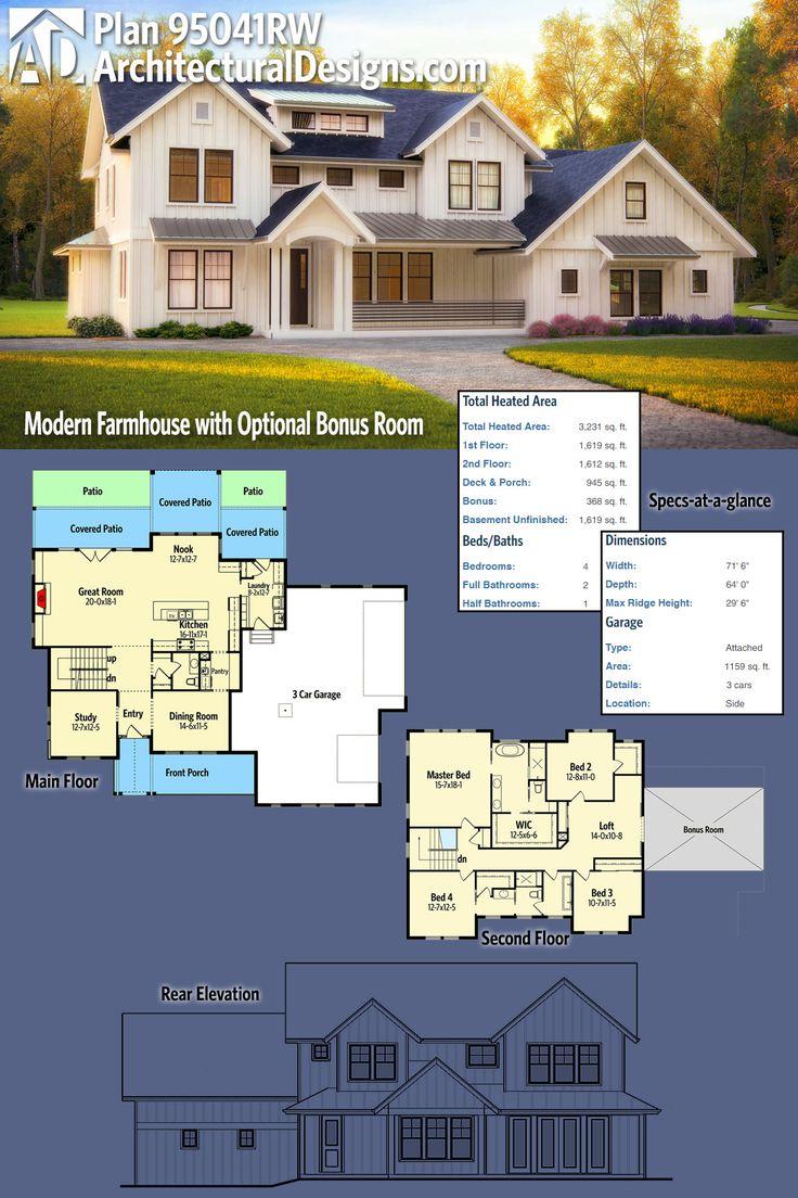 Best 25 modern farmhouse plans ideas on pinterest for Garage expansion ideas