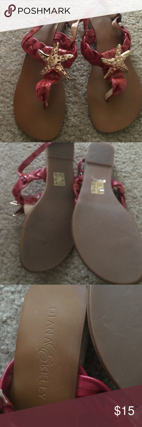 Diana&Kelly Res starfish sandals . Nautical 7 Worn a couple times size 7 diana & kelly Shoes Sandals
