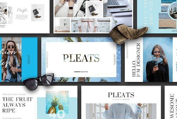 Ad: PLEATS - Powerpoint Fashion Slides - Presentations. PLEATS - Powerpoint Fashion Slides is Powerpoint Template with Fashion Magazine Styles. This Product perfect for any Presentation. #powerpoint #presentation #slide $15