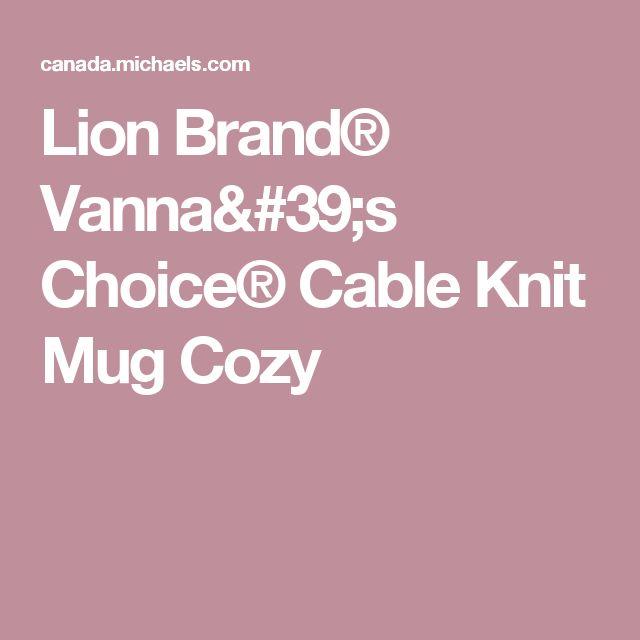 Lion Brand® Vanna's Choice® Cable Knit Mug Cozy
