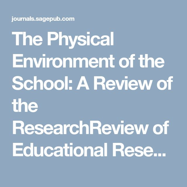 The Physical Environment of the School: A Review of the ResearchReview of Educational Research - Carol S. Weinstein, 1979
