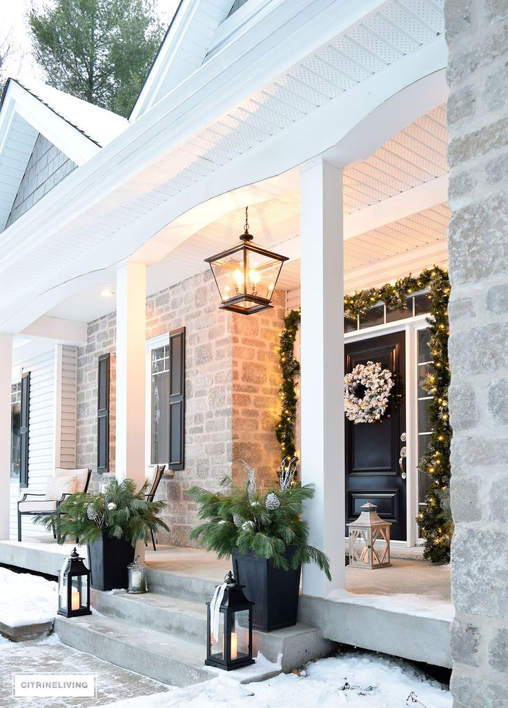 Gorgeous, lantern style pendant light fixture elevates the porch and brings so much sophistication to our home!