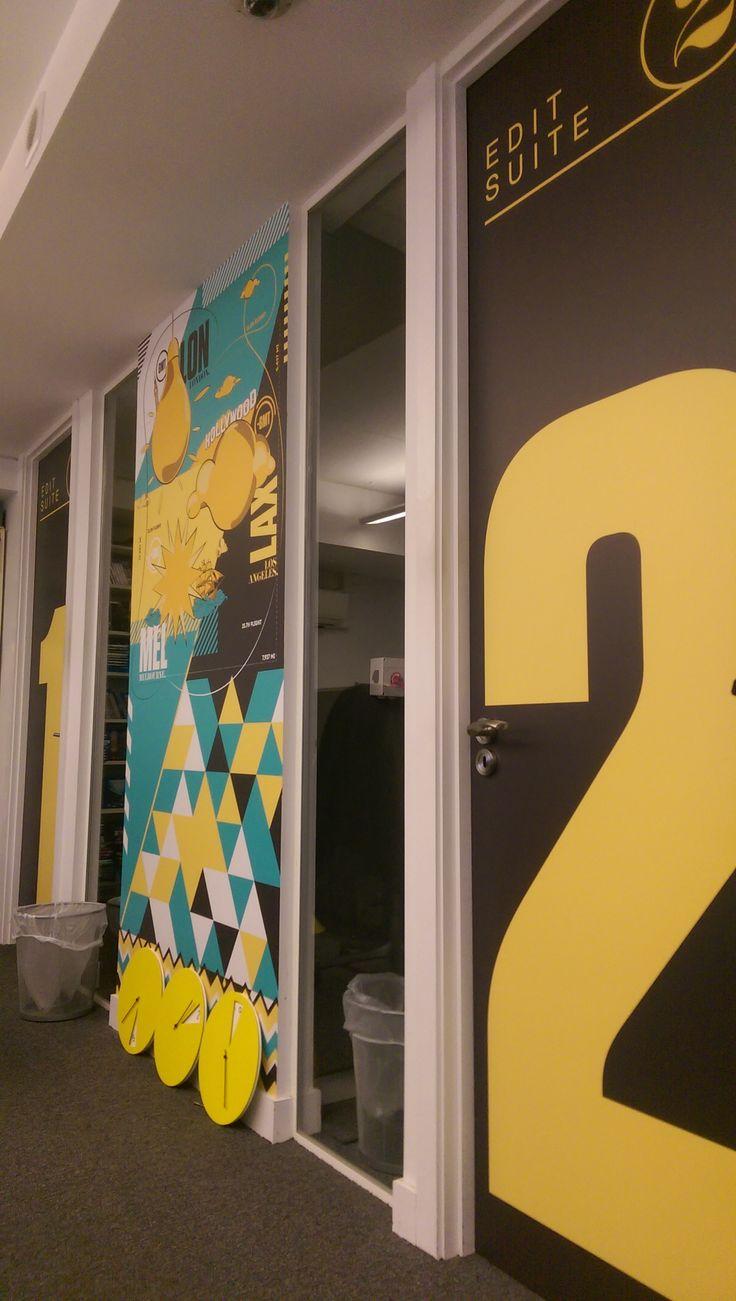 Office branding installation at Zero Degrees West