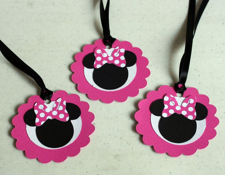 12 Minnie Mouse Favor Tags Treat Bag Tags,Birthday party, baby shower,. $15.00, via Etsy.