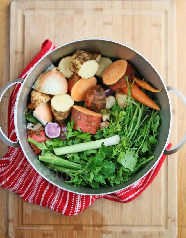 This broth is packed with nutrients and minerals - great as a base for soups, stews, chili, or just as is. **Magic Mineral Broth**  Recipe © Jeanette's Healthy Living  #soup #vegetarian #vegan