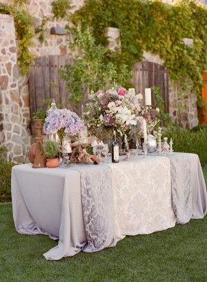 Garden Inspired Purple Wedding Decor