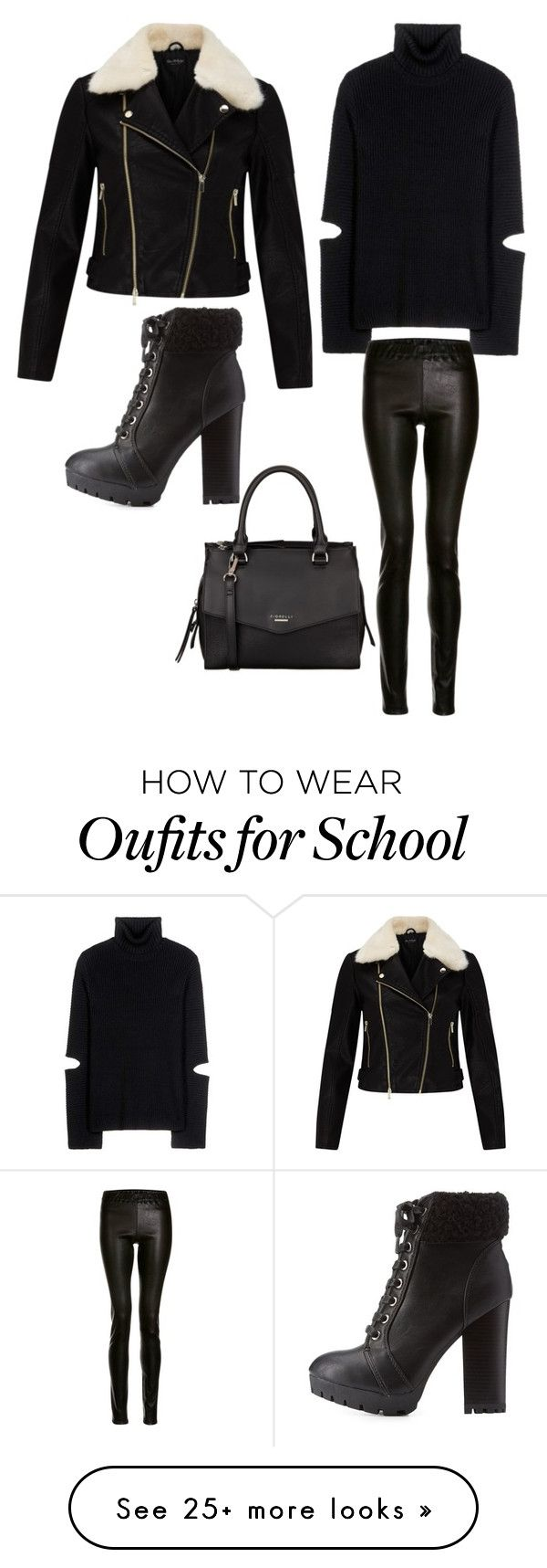 """Untitled #199"" by mirjasyvaluoma on Polyvore featuring Public School, Miss Selfridge, ElleSD, Bamboo and Fiorelli"