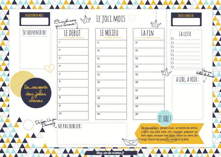 http://www.vie-de-miettes.fr/2012/04/27/organisateur-mensuel-a-imprimer/