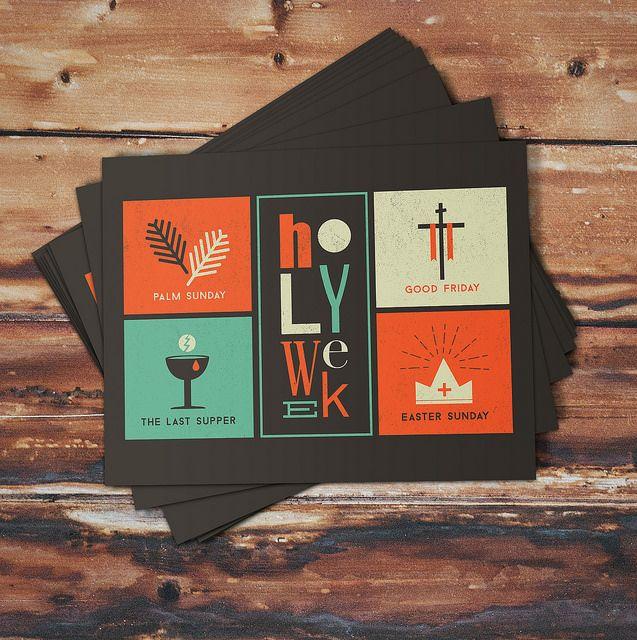 Holy Week Print Design by Megan Watson Design, via Flickr