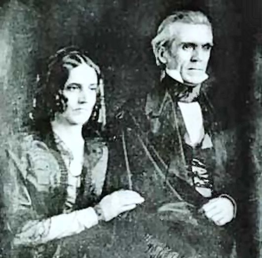 Image result for james polk and wife