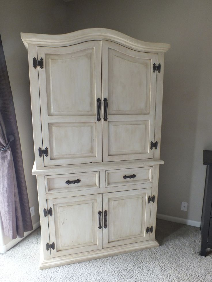 1000 ideas about armoire redo on pinterest armoires tv armoire and whimsical painted furniture for Painting pine bedroom furniture white