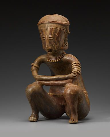Chinesco Seated Male Figure, Type D,Protoclassic, ca. 100 B.C. - A.D. 250