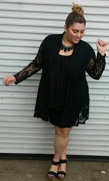 Plus Size Tops | Cielo Lace Cardigan | Swakdesigns.com